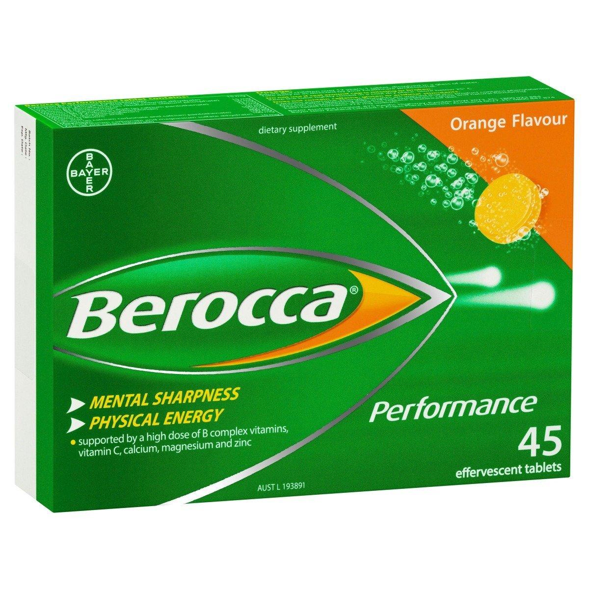 Berocca 复合维生素水溶泡騰片45片-香橙味 (平行進口)