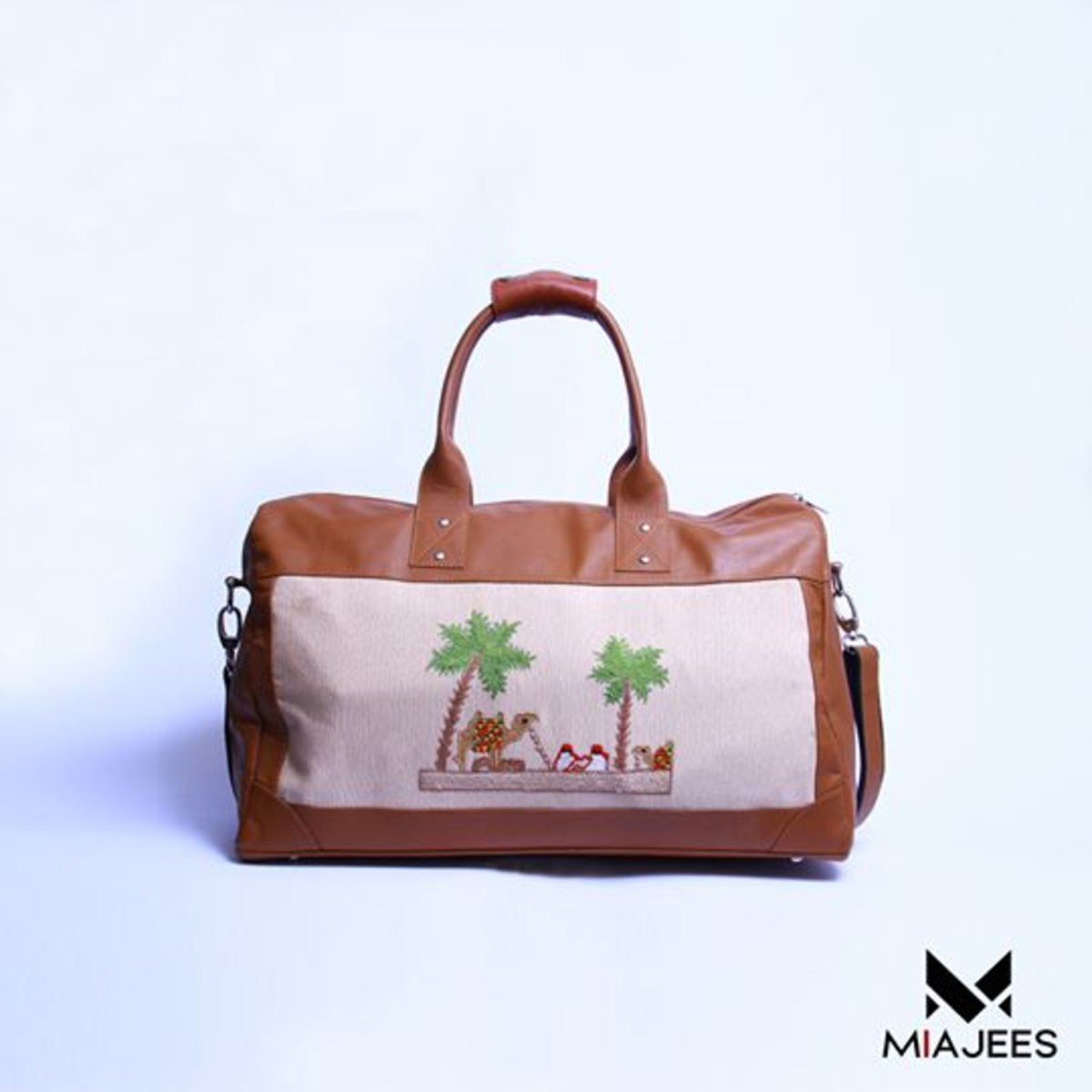 Marciano grande (Small) - Small Duffle Bag, Crossbody Bag - Brown - Genuine Leather Handcrafted