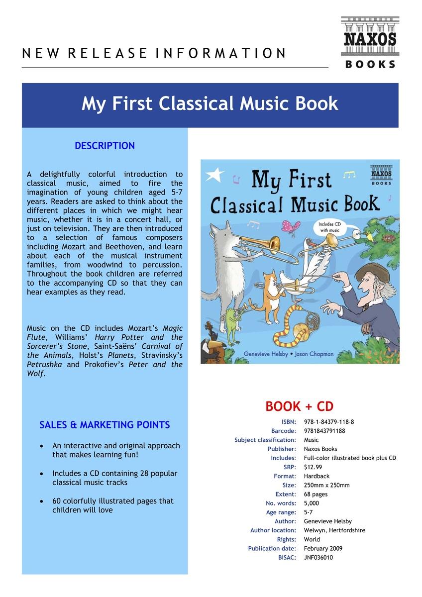 NAXOS   My First Classical Music Book (Book+1CD)   HKTVmall