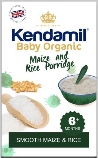 有機玉米及大米粉 (六個月或以上)