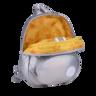 Fluffy Space Egg 銀色背包 (細碼)|成人及兒童均合用 獨特太空感物料 輕巧又舒適