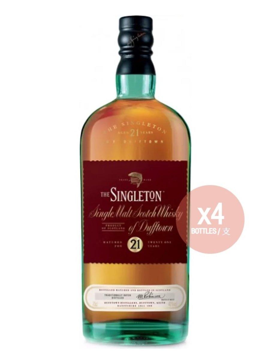 The Singleton of Dufftown 21 YO Single Malt Scotch Whisky - 70cl [ 4 Bottles Package ]