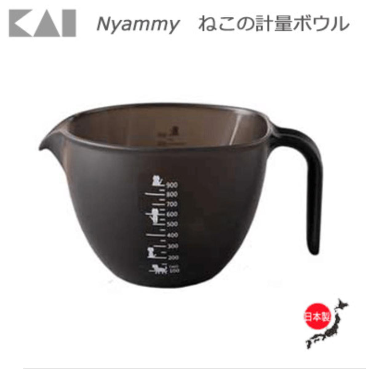 (Made in Japan) Plastic Liquid Measurement Bowl // Cat Printing