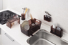 HB-3523 Kitchen shelf - Brown