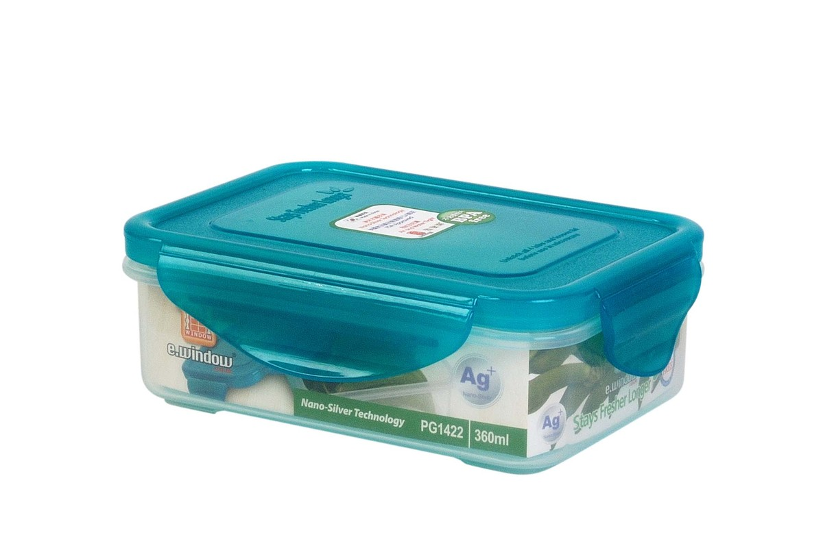 Nano Silver Airtight Container -Rectangular 360ml(PG1422)