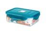 Nano Silver Airtight Container -Rectangular w/divider 630ml(PG1429)