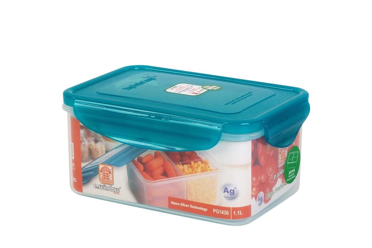 納米銀保鮮盒 -長方形有格 1.1L(PG1430)