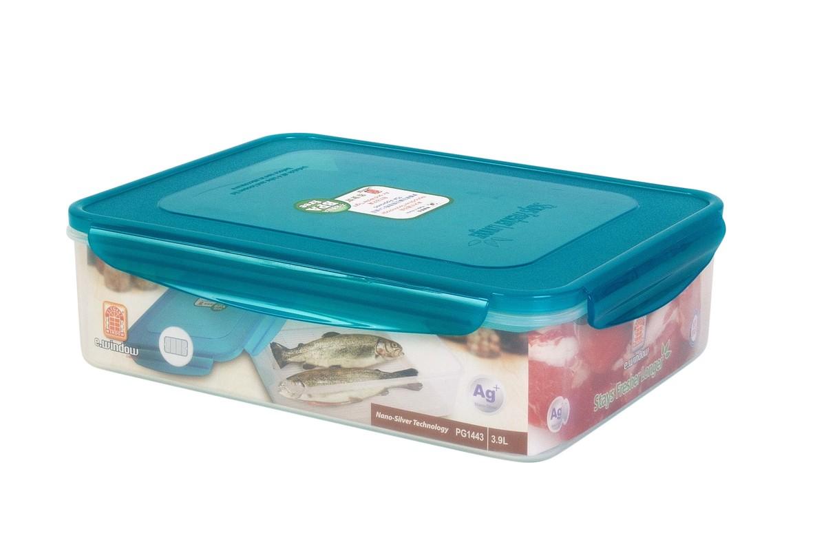 納米銀保鮮盒 -長方形附水隔 3.9L(PG1443)
