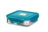 納米銀保鮮盒 -正方形有格 600ml (PG1453)