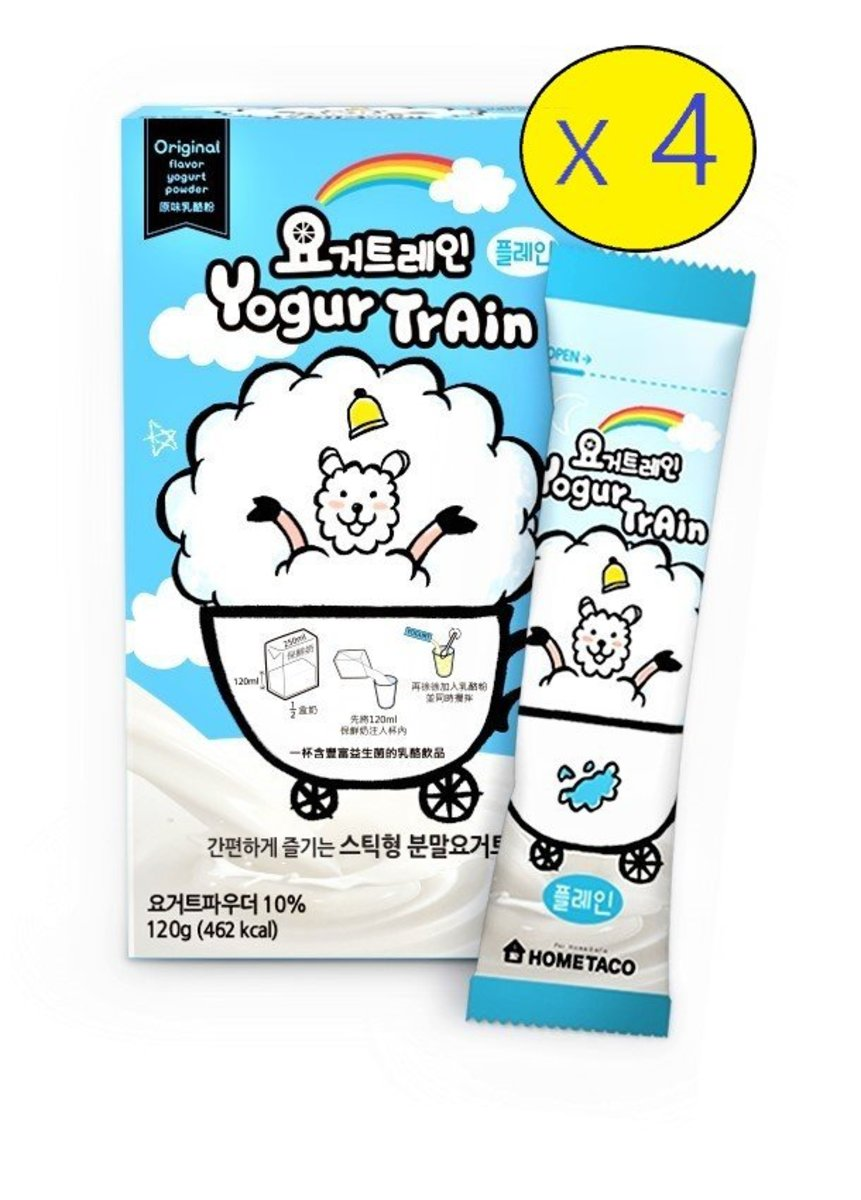 4 box Korean Instant Original Flavor Yogurt Powder with probiotics (6 sachet x 20g / box)