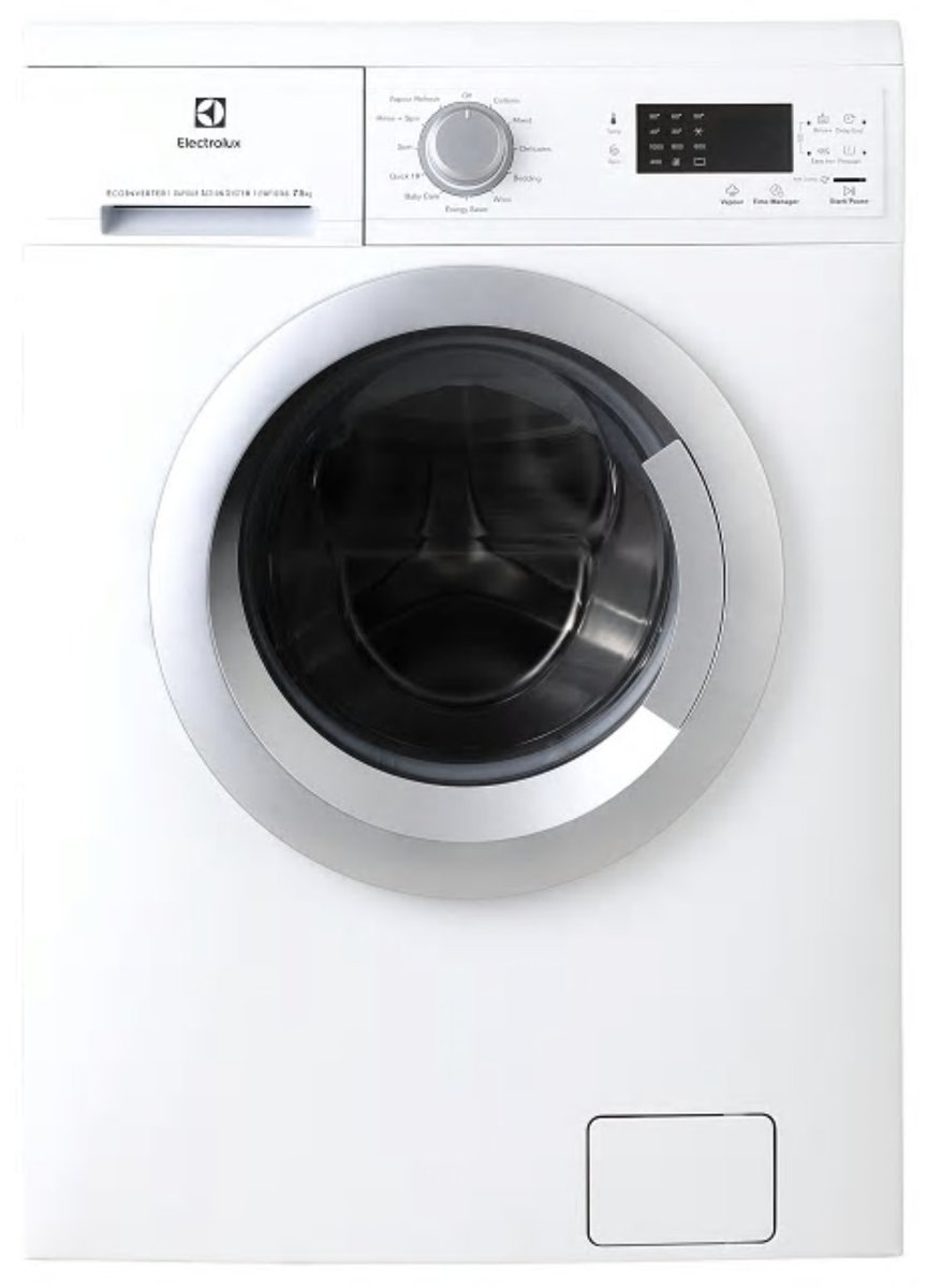 伊萊克斯 – EWF12746 7.5kg Vapour Care Washing Machine - Hong Kong Warranty
