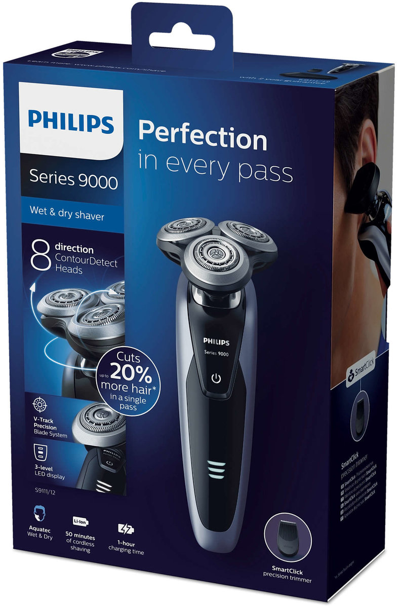 Philips S9111 Wet & Dry Electric Shaver Hong Kong Warranty