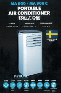 MA900C 1匹 活動滑輪 淨冷移動冷氣 三年全機保用 Dometic 原裝行貨 3年保養