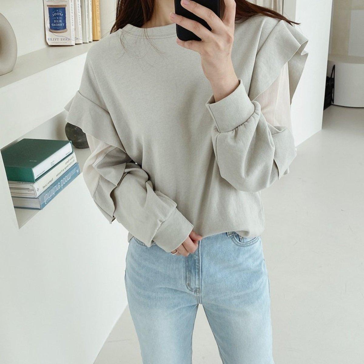 Frill Accent Sweatshirt