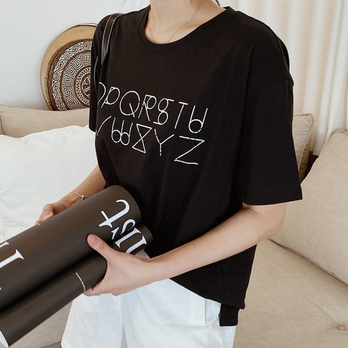 Printed Detail Short Sleeve T-Shirt