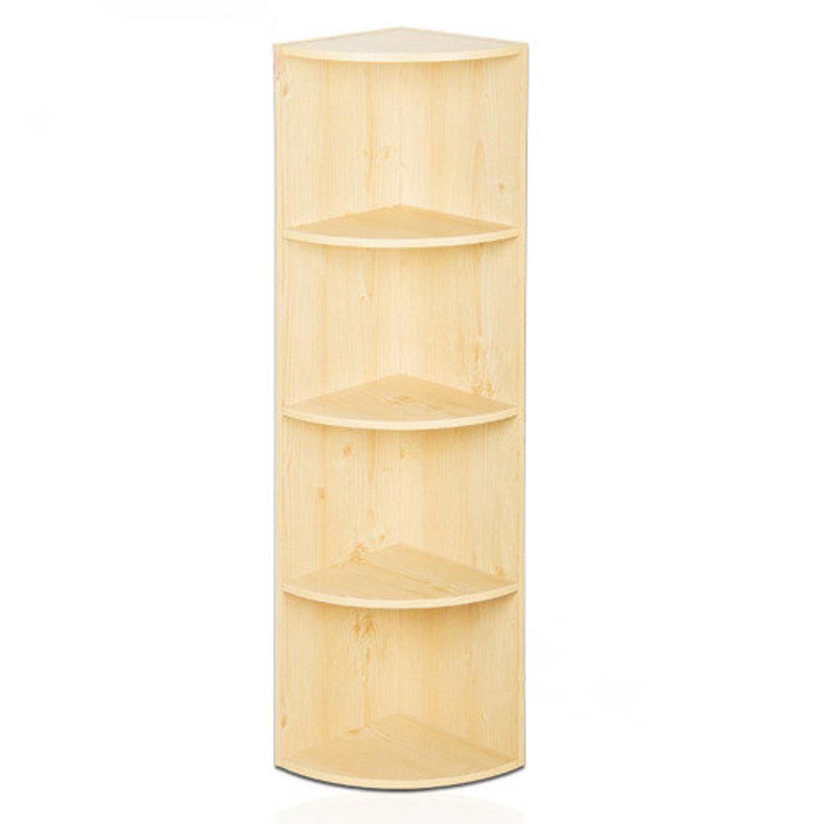 四層組合式木制  層架 實用儲物架 書架 牆角櫃 - 67