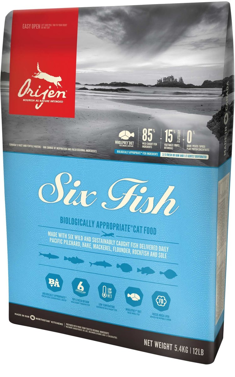 Canada Delivers Six Fish Cat Food 5.4kg