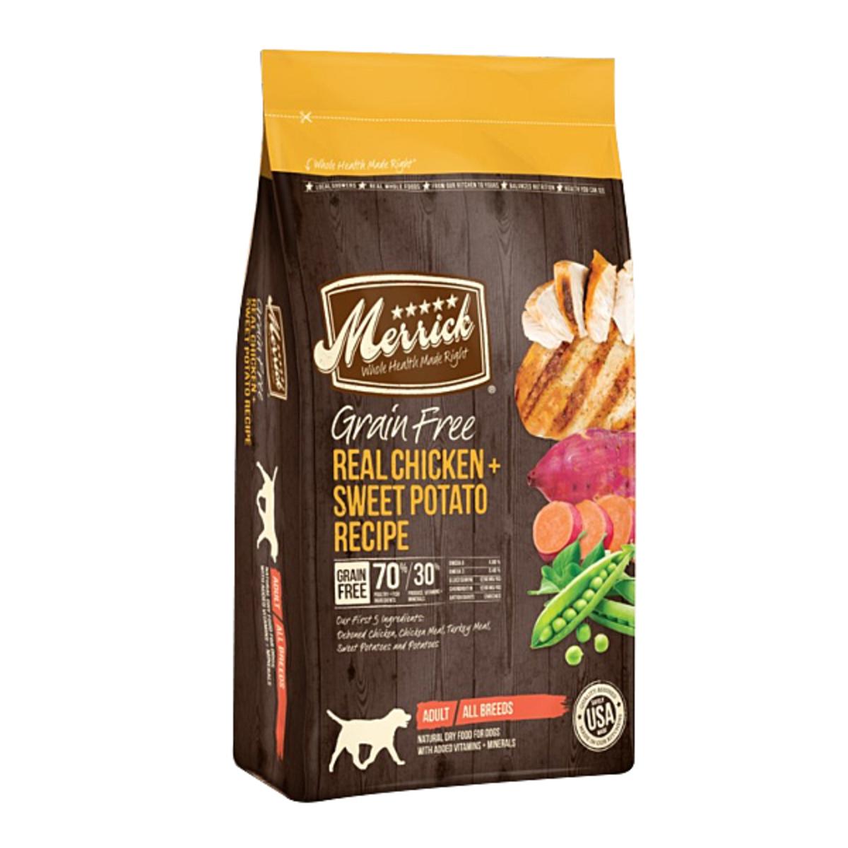 無穀物天然全犬糧 雞肉 + 甜薯配方 - 12lb