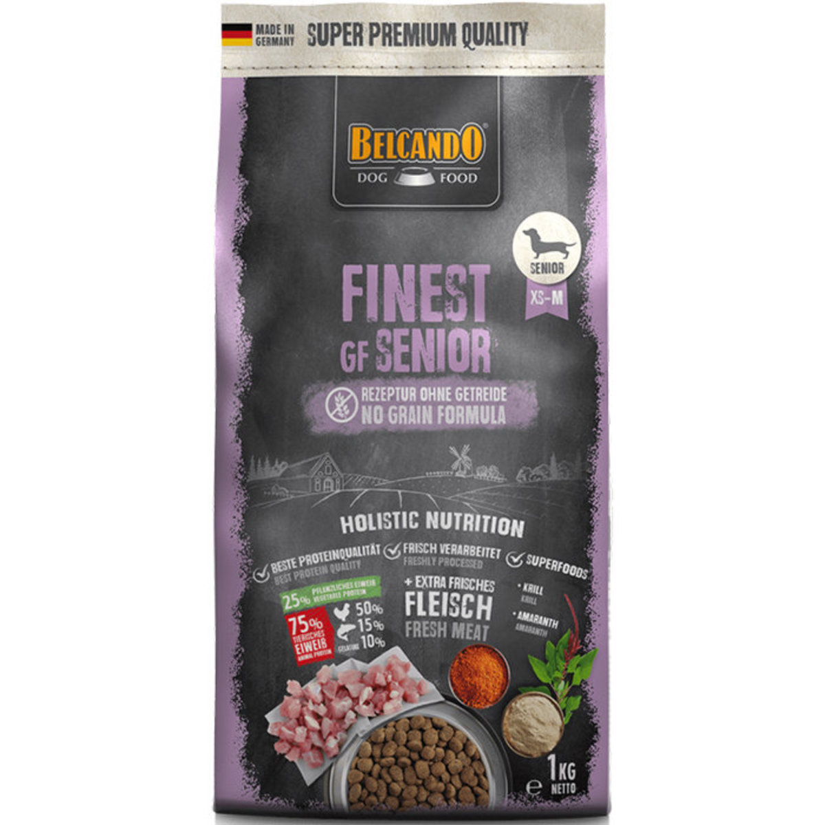 Finest Grain Free Senior Formula Dry Dog Food 1kg