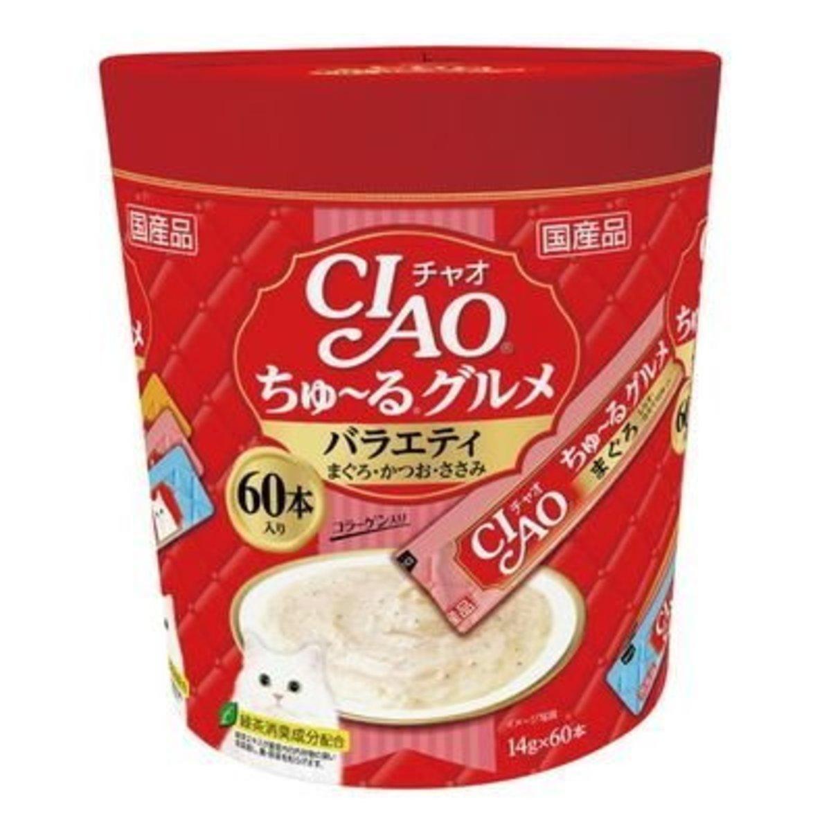 貓貓CIAO醬包-吞拿魚鰹魚雞肉 14g x60本 [紅色]