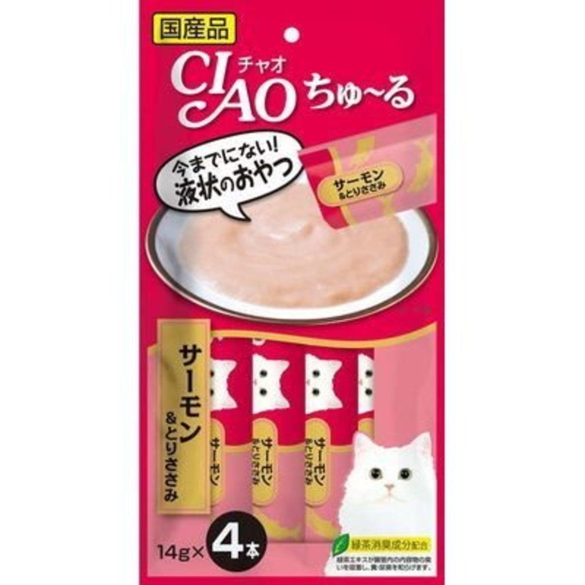 貓貓CIAO醬包-三文魚雞肉 14g x4本