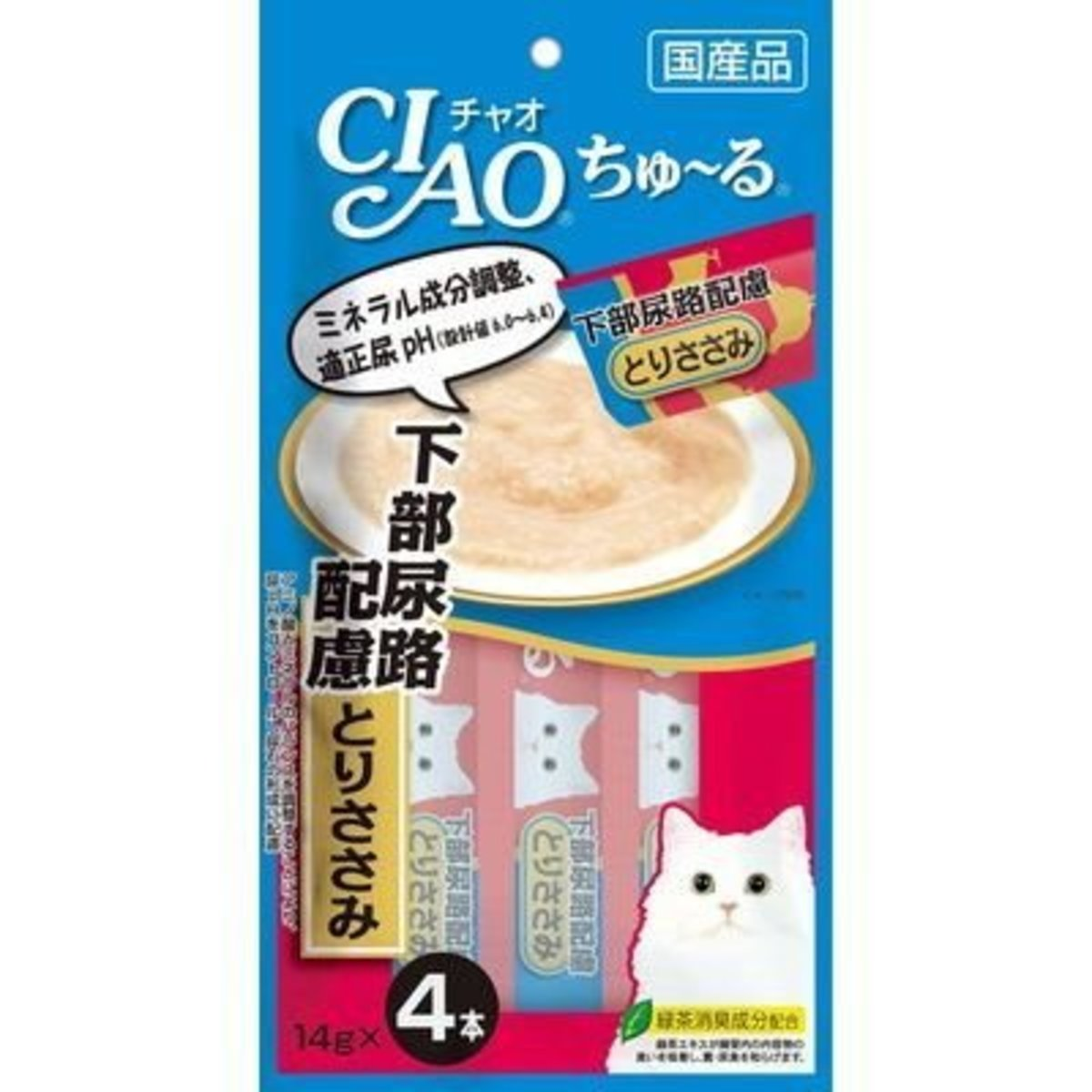 Churu Puree Lickable Cat Treat Chicken 14g x4p