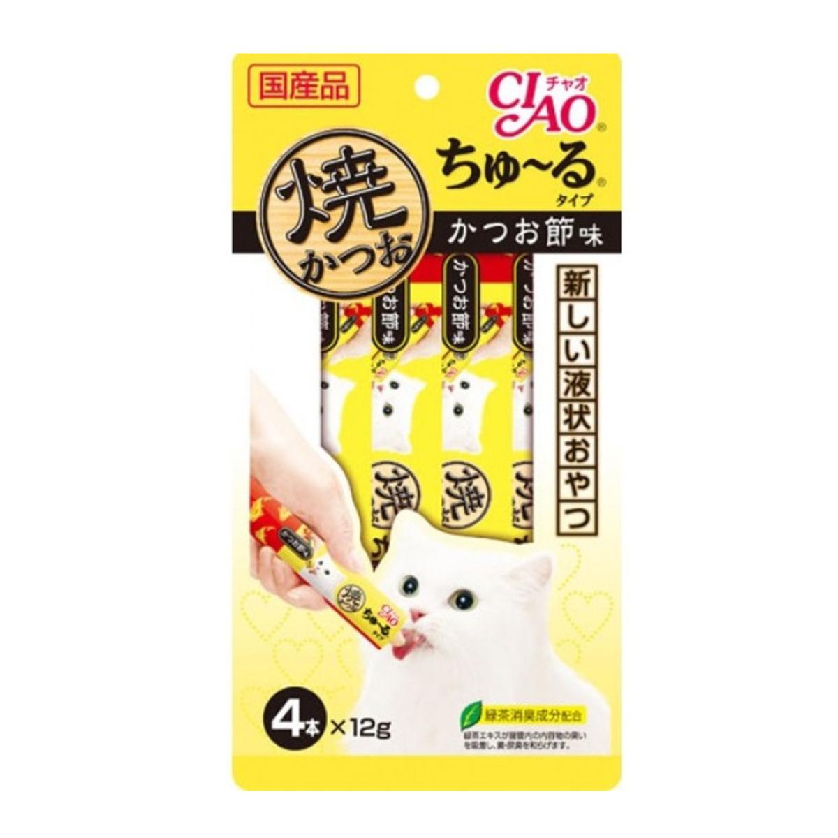 Ciao Grilled Tuna Churu Dried Bonito Flavor 12g x4p