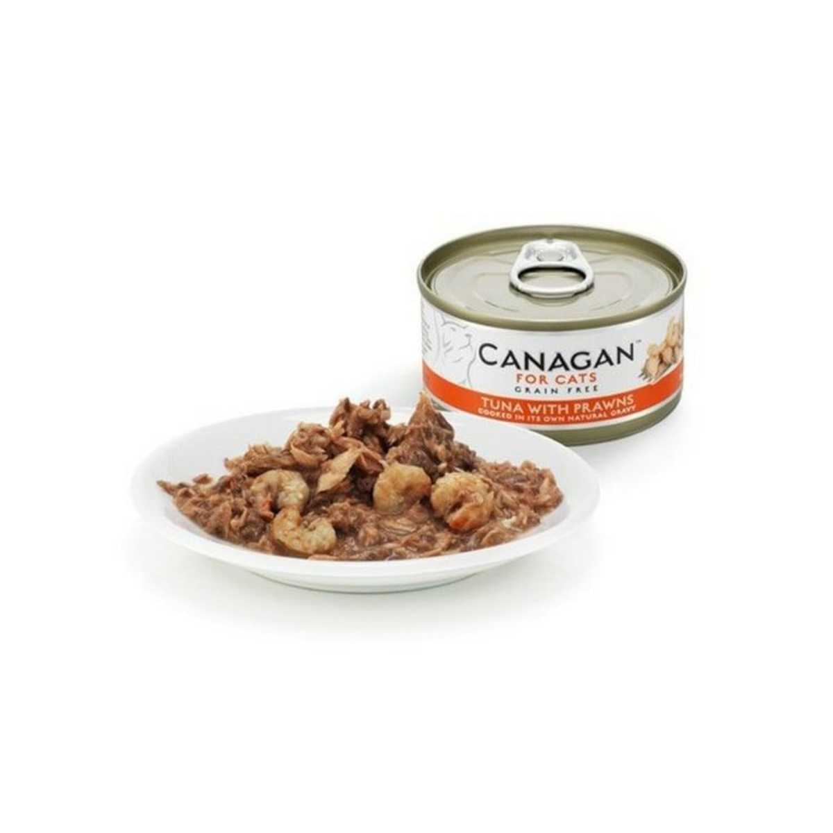 Canned gluten-free tuna with prawn cat  - 75g