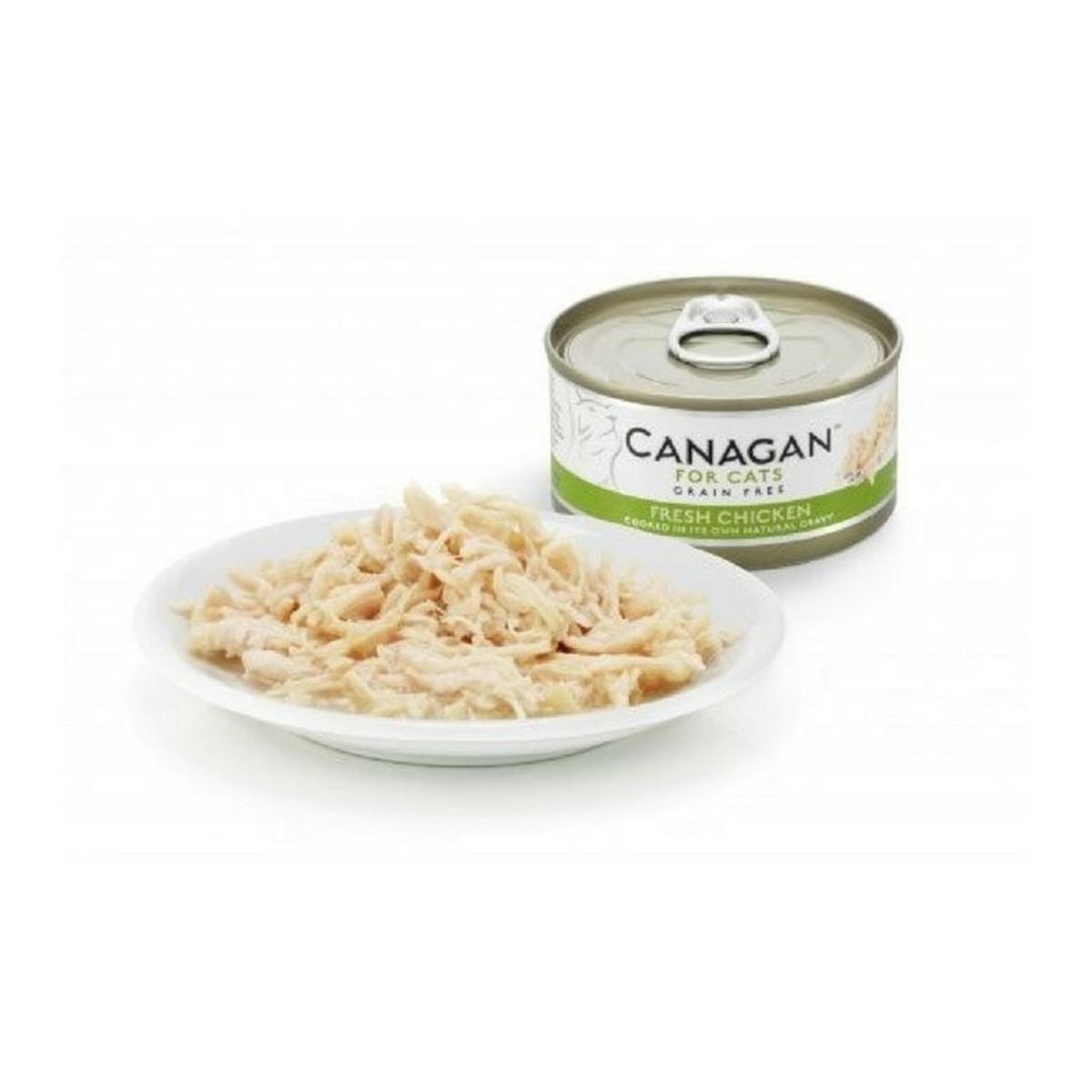 Canned gluten-free chicken cat  - 75g