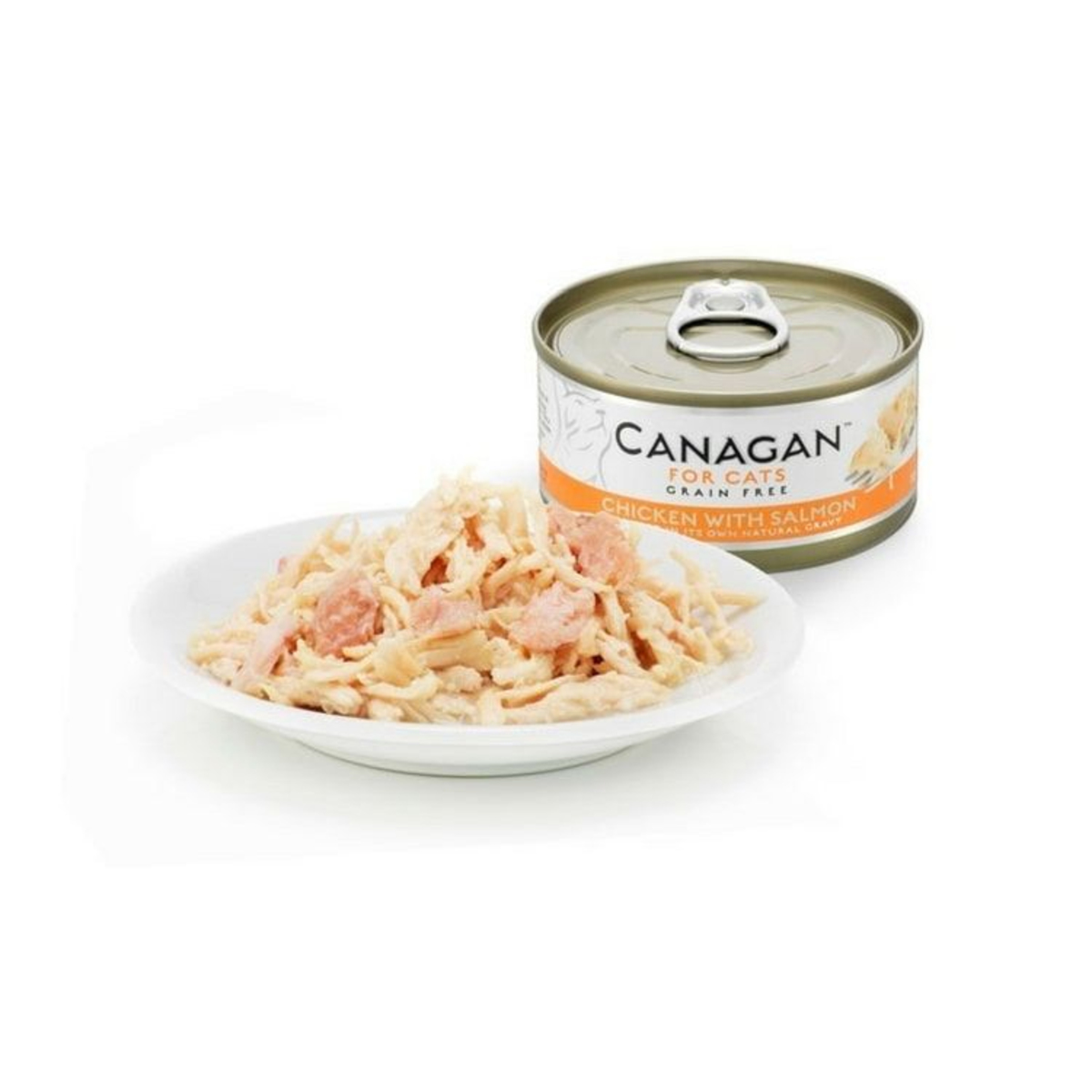 non-grain chicken with salmon and canned cat - 75g