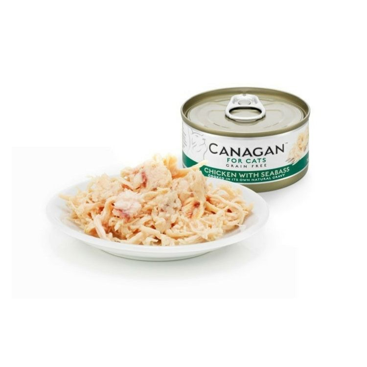 Non-grain chicken with canned bass The cat canned - 75g