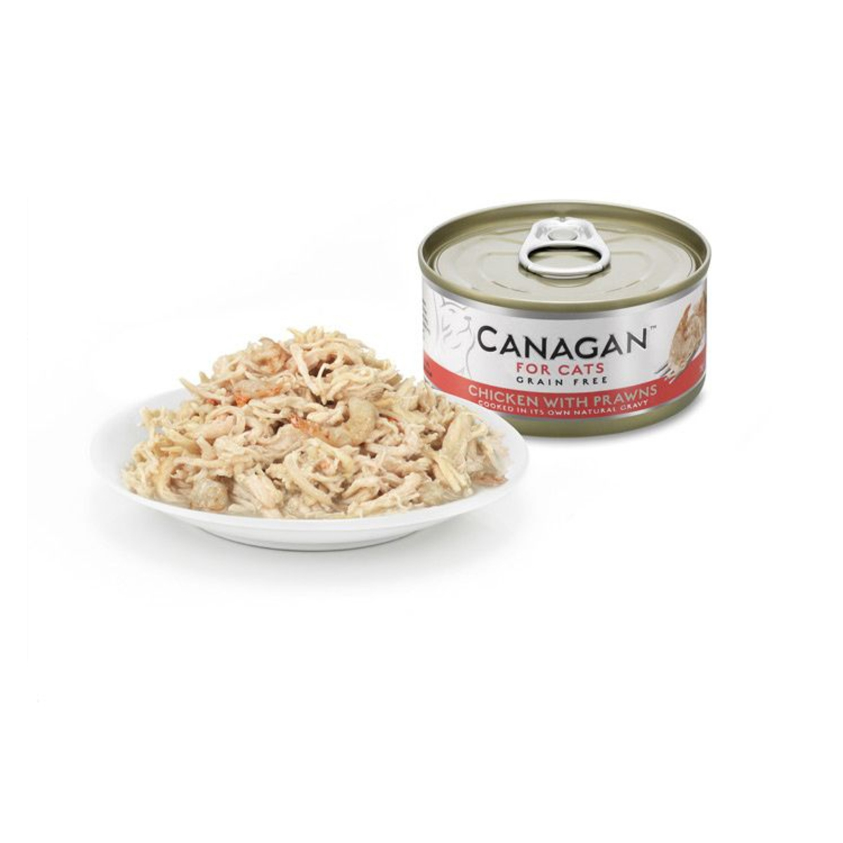 Canned gluten-free chicken with shrimp cat - 75g