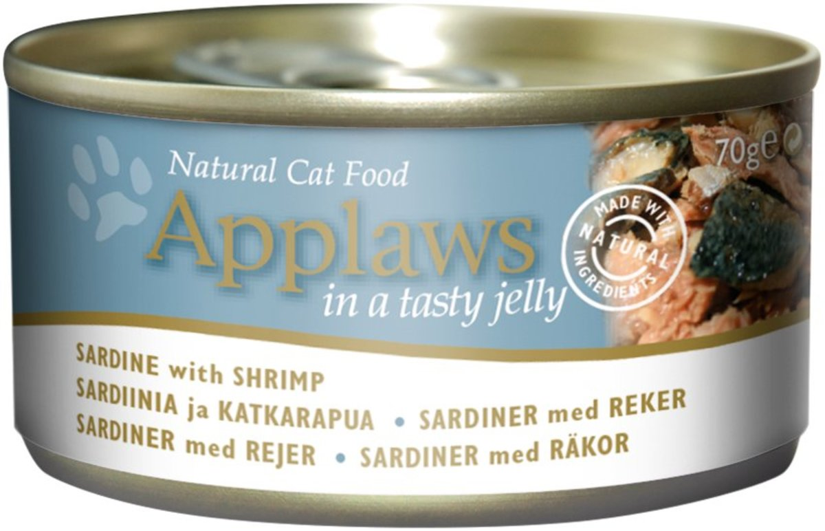 Canned cat (gel series) - sardines & shrimp - 70g