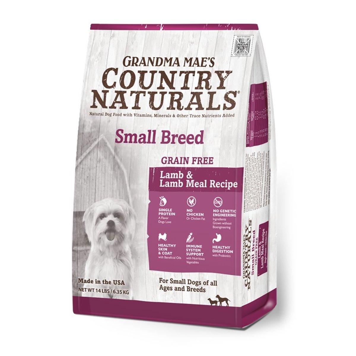 Grain Free Lamb & Lamb Meal Recipe Small Breed Dry Dog Food 4lb