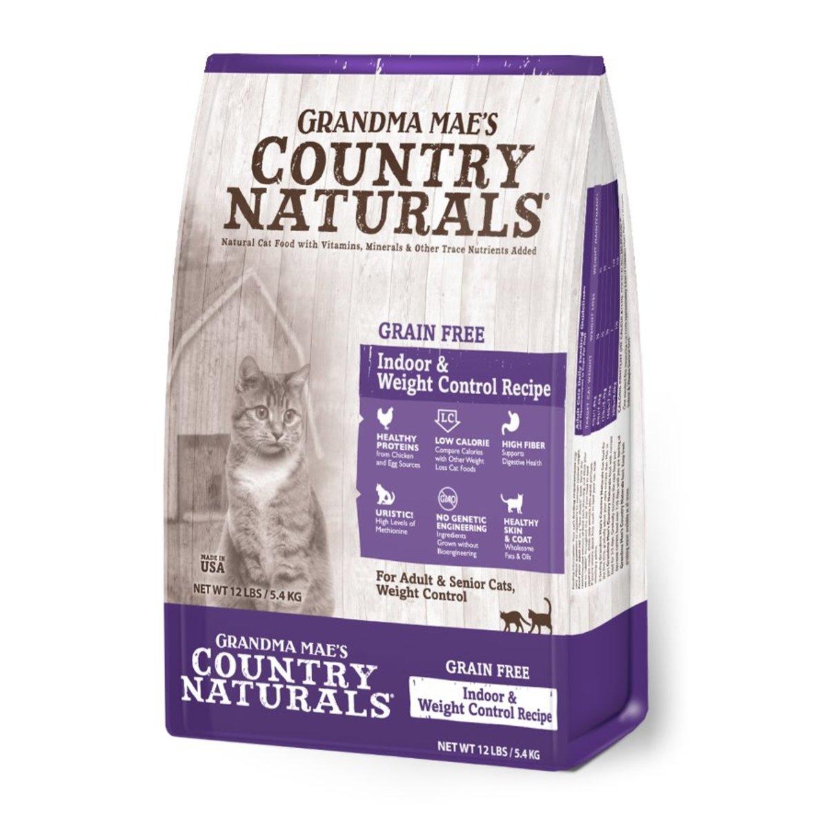 Grain free Indoor & Weight Control Dry Cat Food 12lb