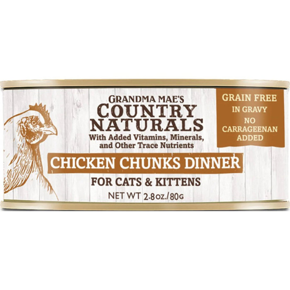 Cat Canned Grain Free Chicken Chunks Dinner for Cats & Kittens 80g