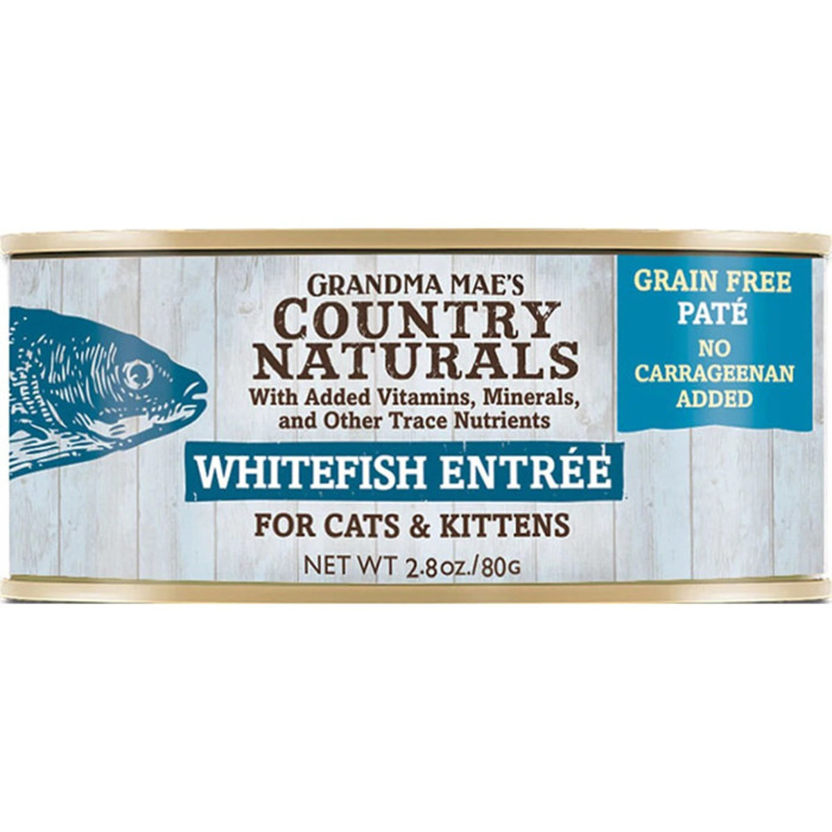 Cat Canned Grain Free Whitefish Entree for Cats & Kittens 80g