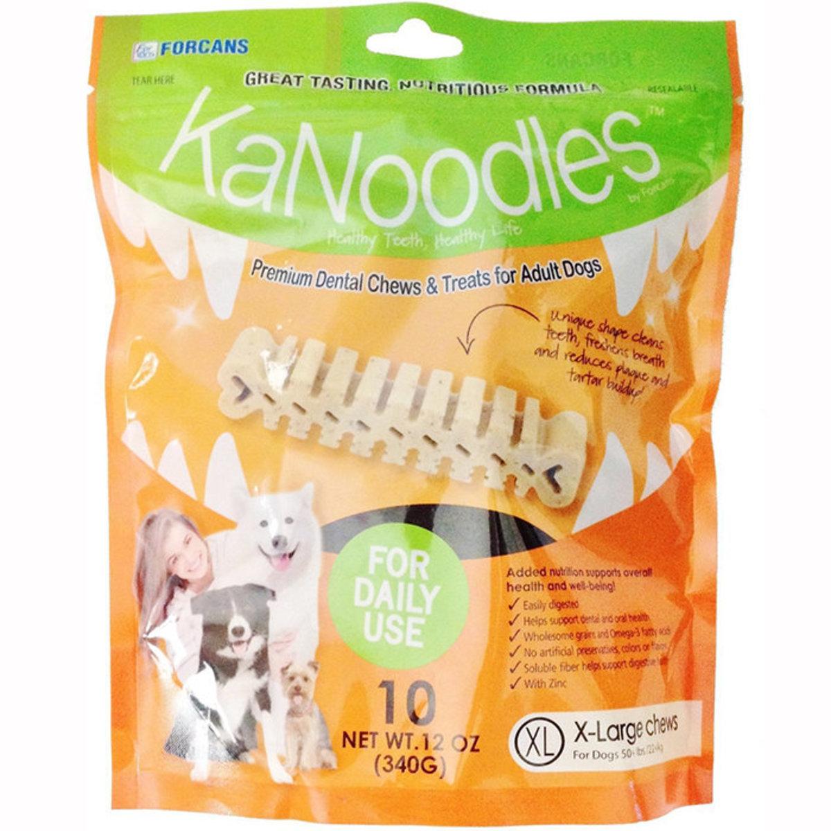 KaNoodles Premium Dental Chews & Treats for Adult Dogs XL 12oz 10pcs
