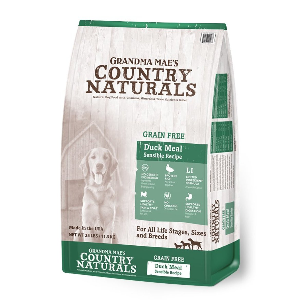 Grain Free Limited Ingredient Duck Recipe Dry Dog Food 25lb