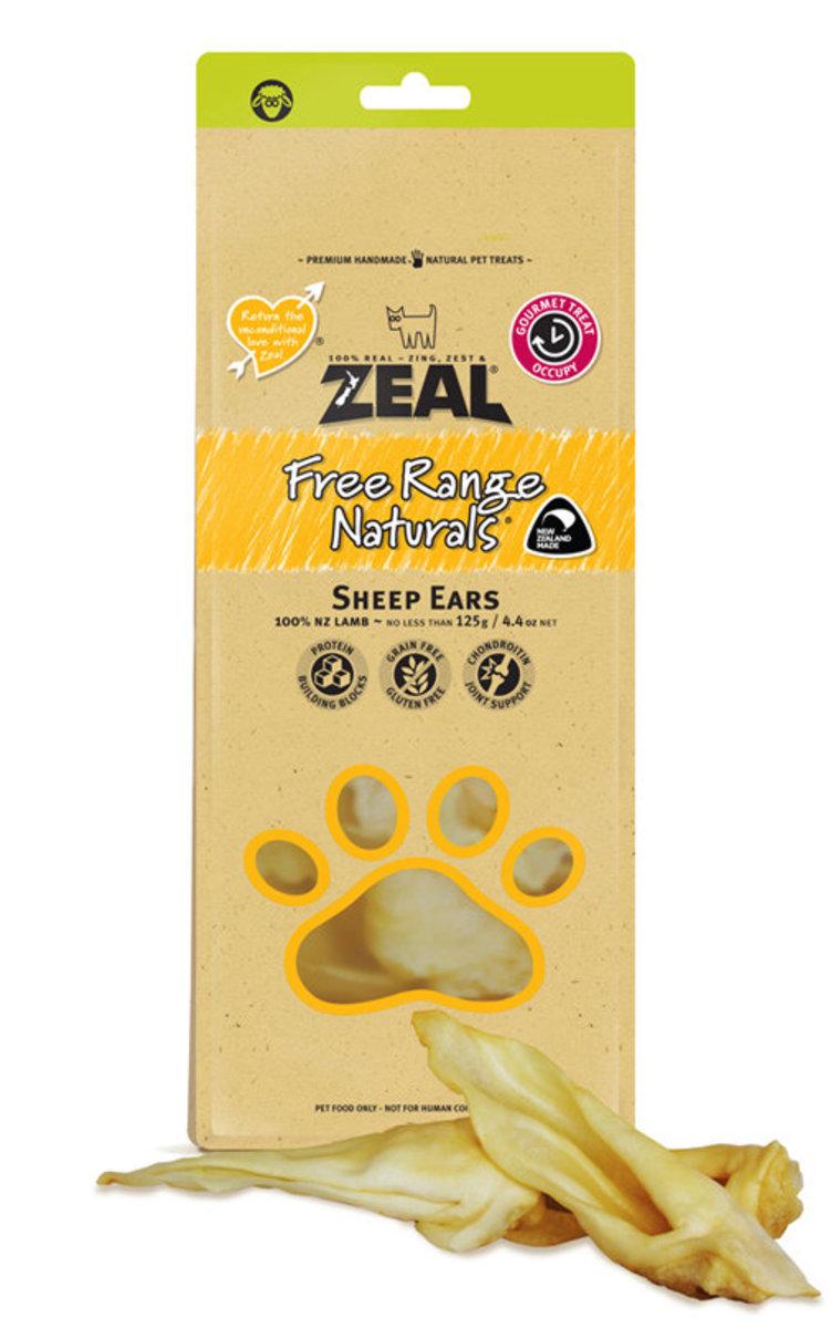 Pet treats Free Range Naturals - Sheep Ears 125g