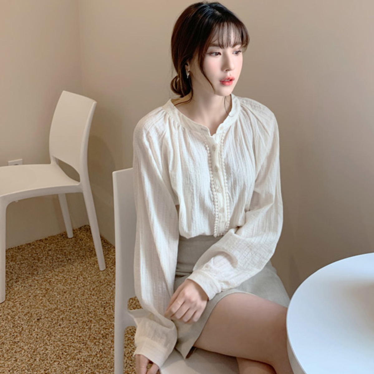 Clotted Cream Blouse_2032