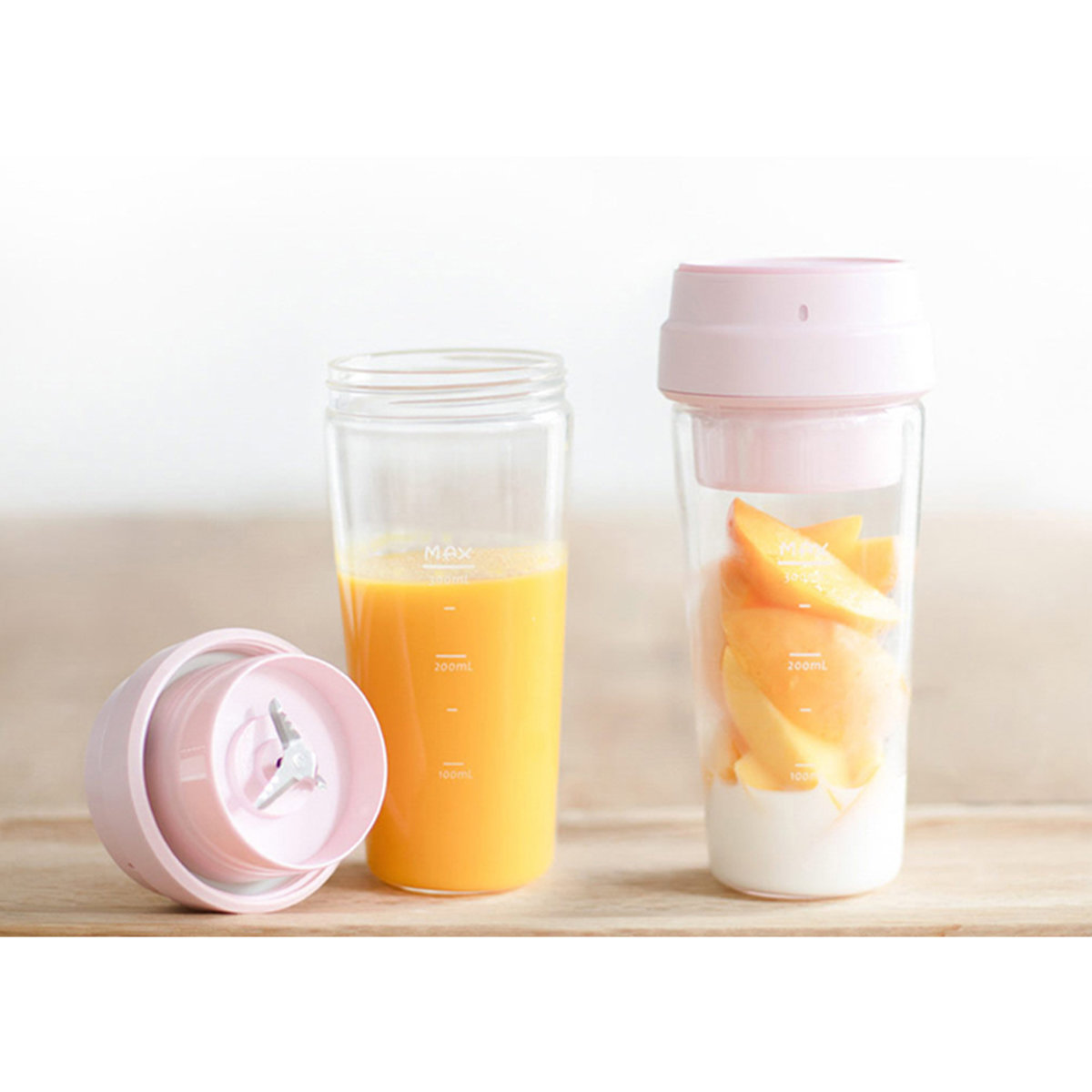 17pin Portable fruit blender (Pink)