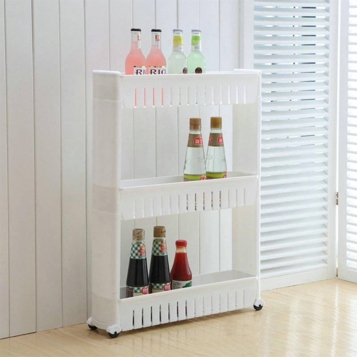 3 Tiers narrow organizer rack - HG137203WH (White)