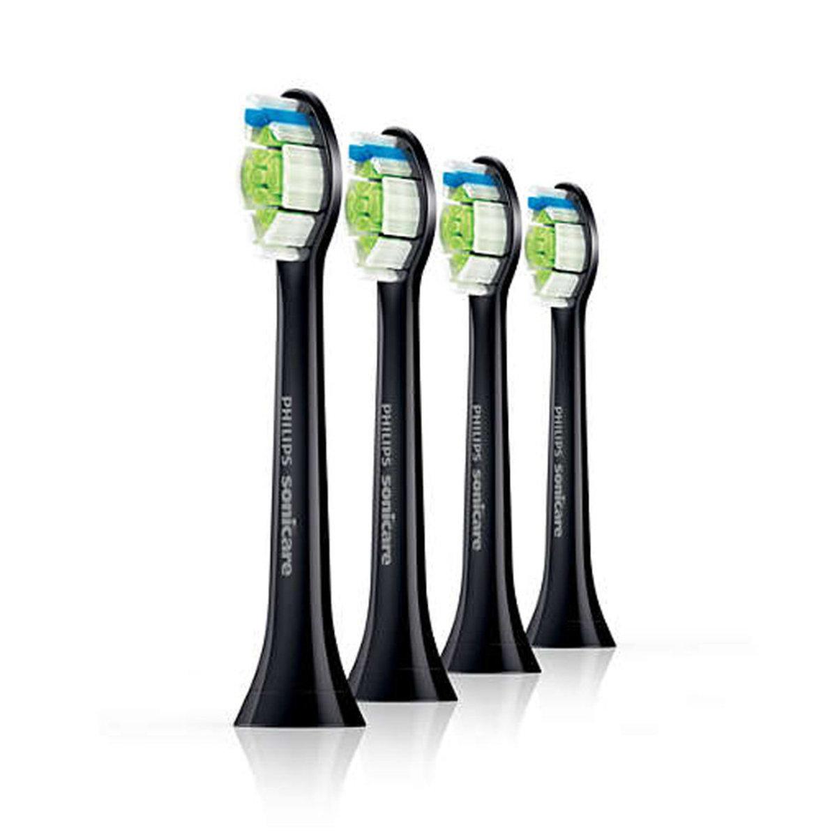 Sonicare DiamondClean Toothbrush Head - HX6064 (Black) (4pcs)