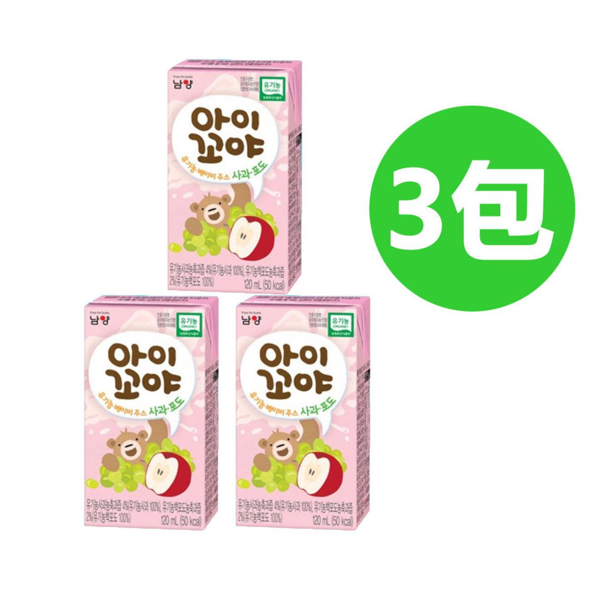 Namyang Organic Baby Juice (Apples & Grapes Flavour) (3 packs)