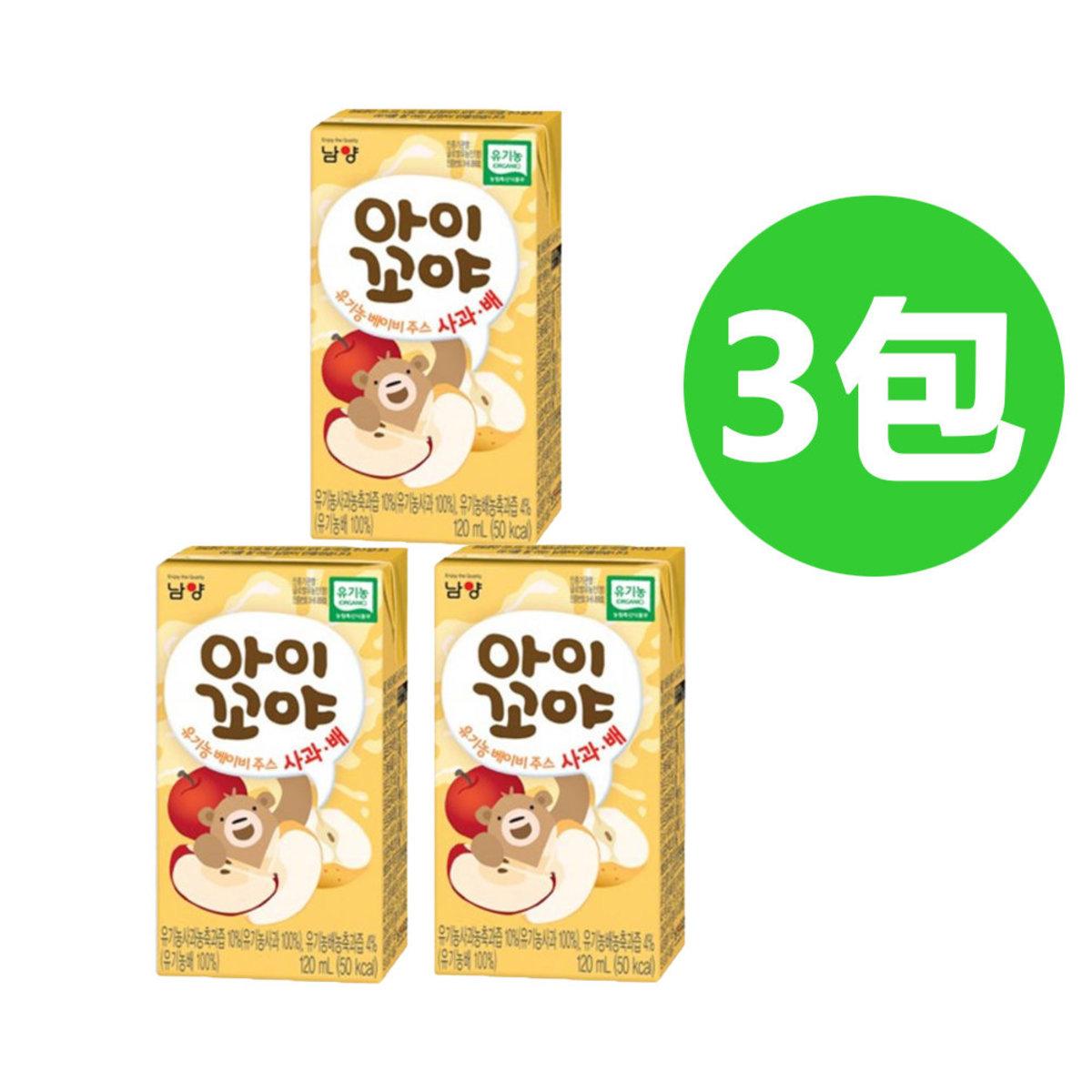 南陽有機婴兒果汁(蘋果蜜梨味) 3連包