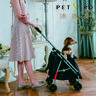 416PA-BWD Pet Stroller (Brown/White Dots)