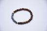 Indonesian Red Clay Agarwood with Iron Bracelet