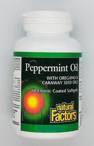 Natural Factors 薄荷油 牛至油 和 香菜籽油 60 軟膠囊