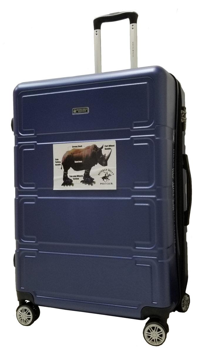 28 吋四輪行李箱(可擴充)-藍色